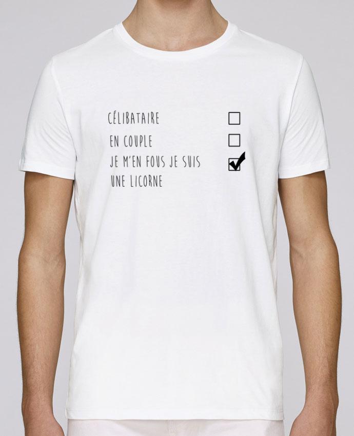 T-Shirt Col Rond Stanley Leads je m'en fou je suis une licorne par DesignMe