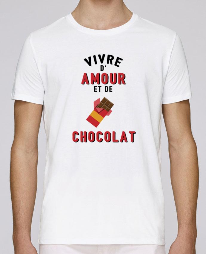 T-Shirt Col Rond Stanley Leads Vivre d'amour et de chocolat par tunetoo