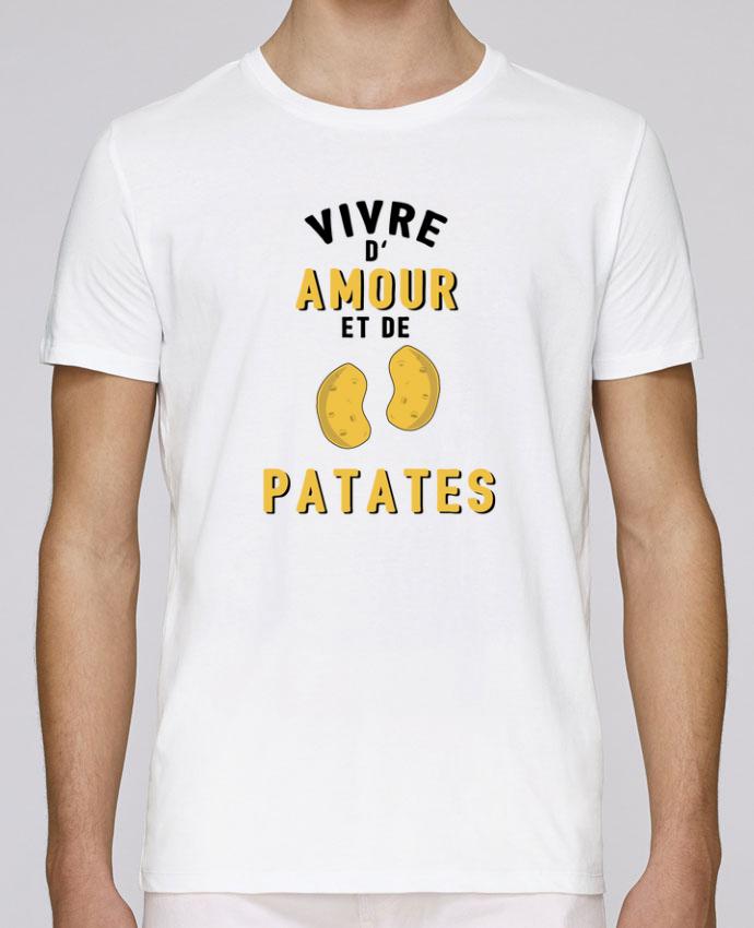 T-Shirt Col Rond Stanley Leads Vivre d'amour et de patates par tunetoo