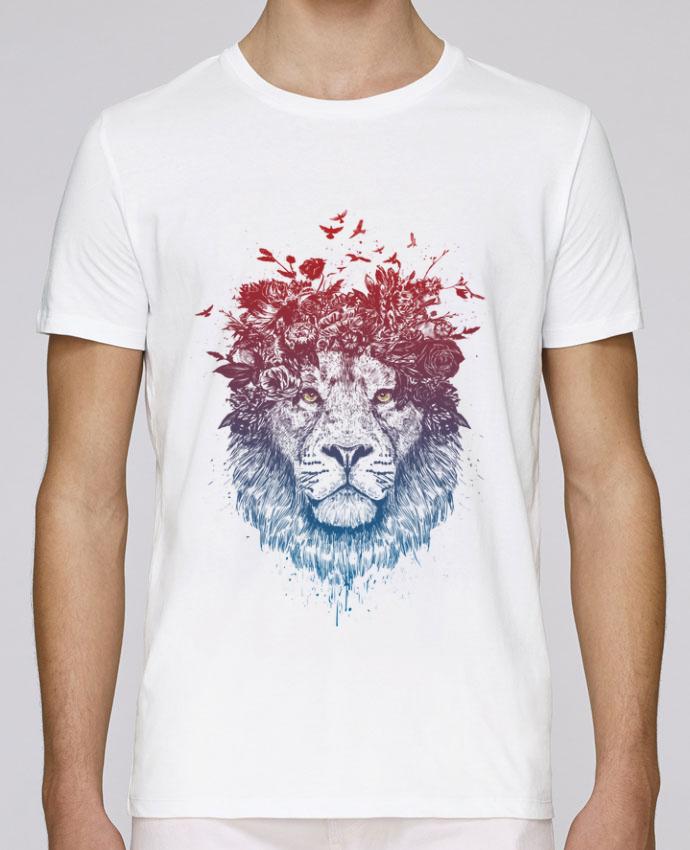 T-Shirt Col Rond Stanley Leads Floral lion III par Balàzs Solti