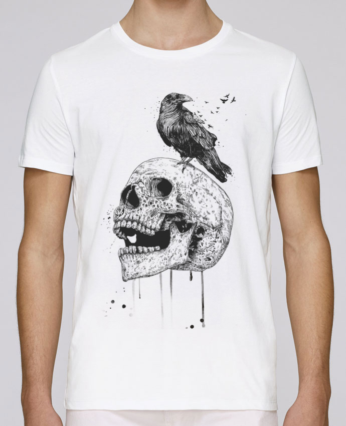 T-Shirt Col Rond Stanley Leads New skull (bw) par Balàzs Solti