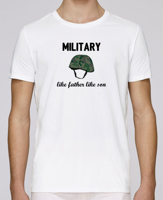 T-Shirt Col Rond Stanley Leads Military Like father like son par tunetoo
