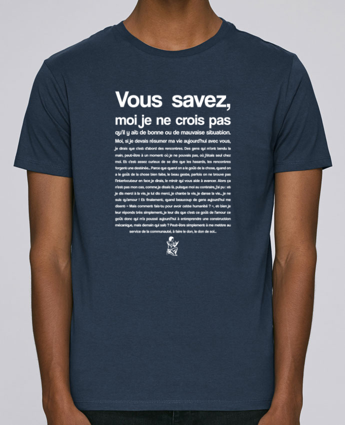 T-Shirt Col Rond Stanley Leads Citation Scribe Astérix par tunetoo