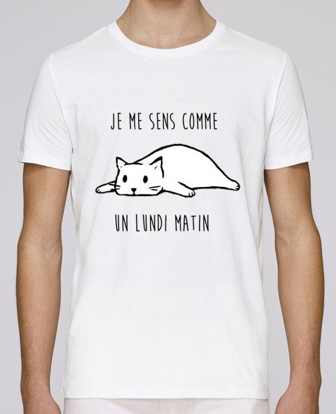 T-Shirt Col Rond Stanley Leads chat - je me sens comme un lundi matin par DesignMe