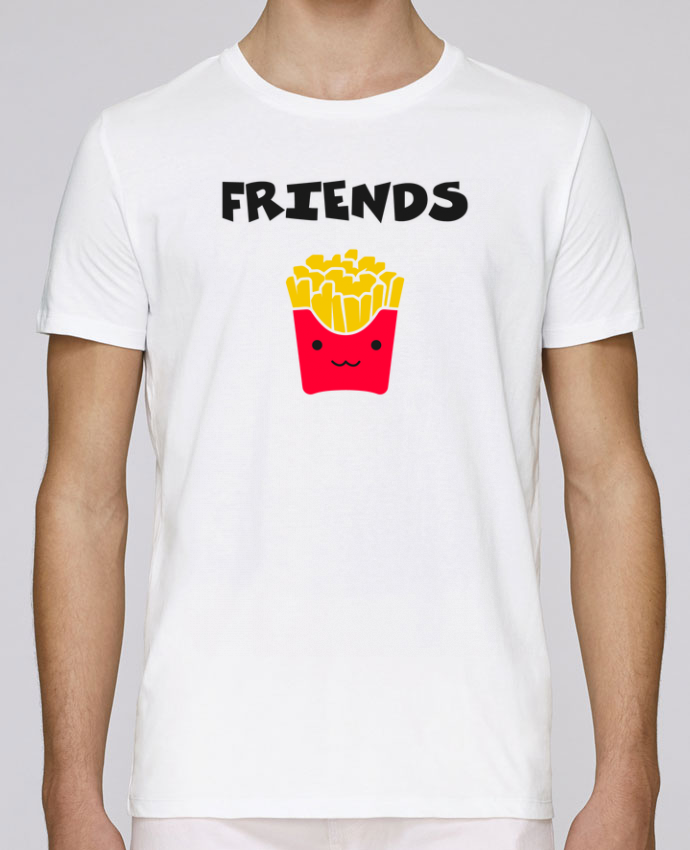 T-Shirt Col Rond Stanley Leads BEST FRIENDS FRIES par tunetoo
