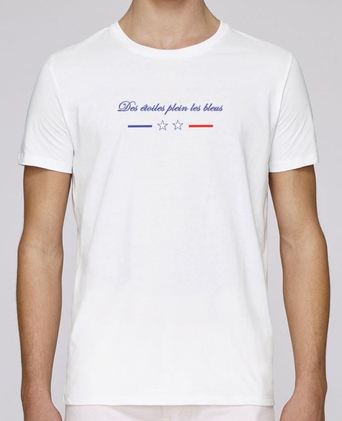 18040ba553f T-Shirt Col Rond Stanley Leads DES ETOILES PLEIN LES BLEUS par Tee Smiles