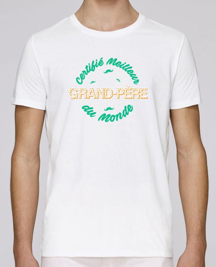 T-Shirt Col Rond Stanley Leads Certifié meilleur grand-père du monde par tunetoo