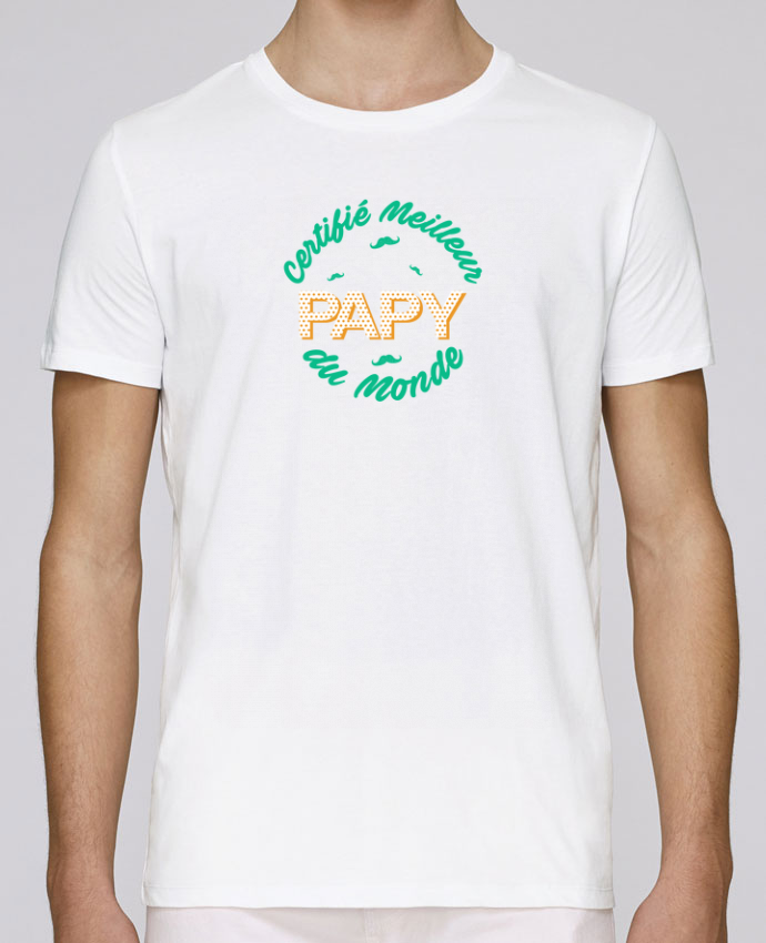 T-Shirt Col Rond Stanley Leads Certifié meilleur papy du monde par tunetoo