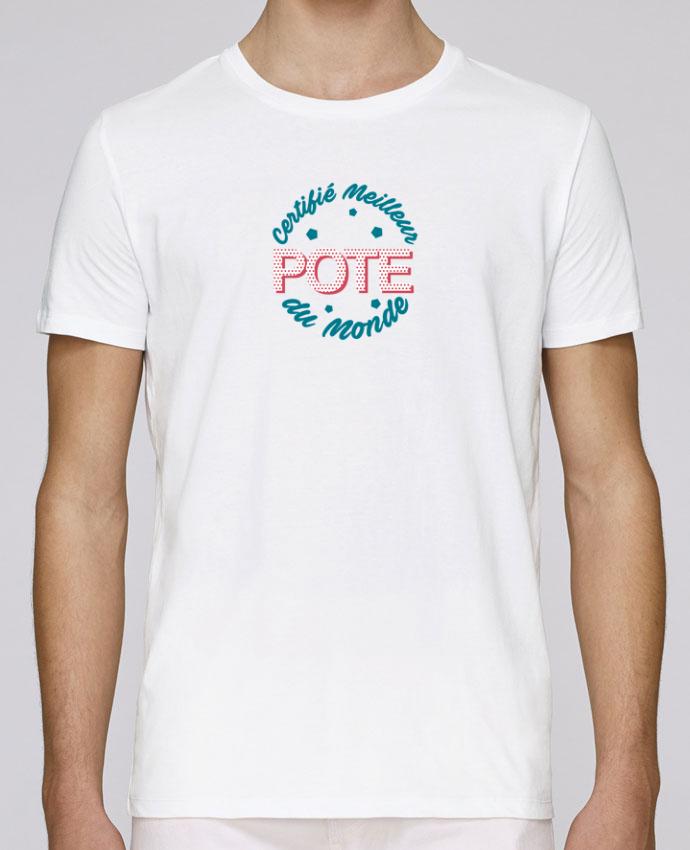 T-Shirt Col Rond Stanley Leads Certifié meilleur pote du monde par tunetoo