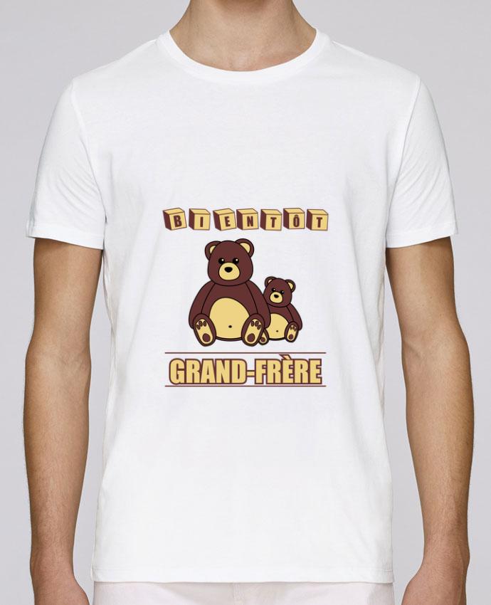 T-Shirt Col Rond Stanley Leads Bientôt Grand-Frère avec ours en peluche mignon par Benichan