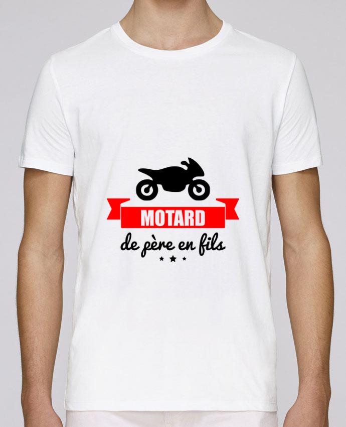 T-Shirt Col Rond Stanley Leads Motard de père en fils, moto, motard par Benichan
