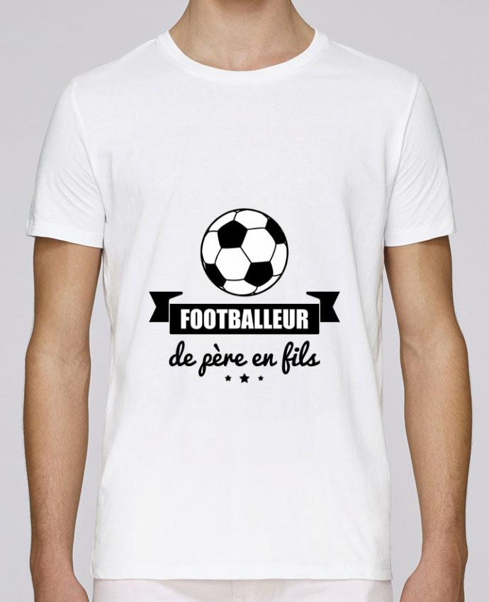 T-Shirt Col Rond Stanley Leads Footballeur de père en fils, foot, football par Benichan