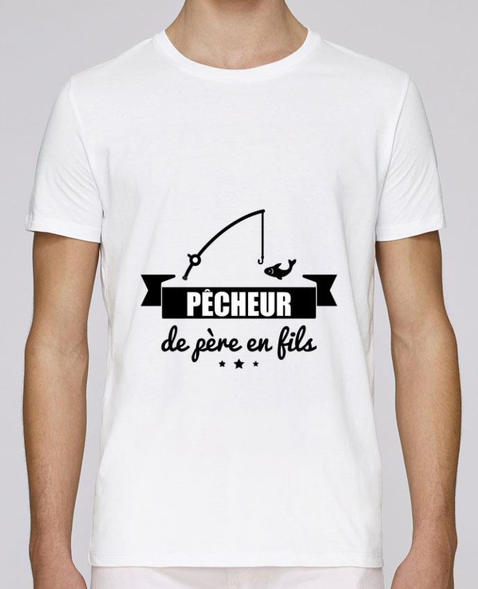 T-Shirt Col Rond Stanley Leads Pêcheur de père en fils, pêcheur, pêche par Benichan