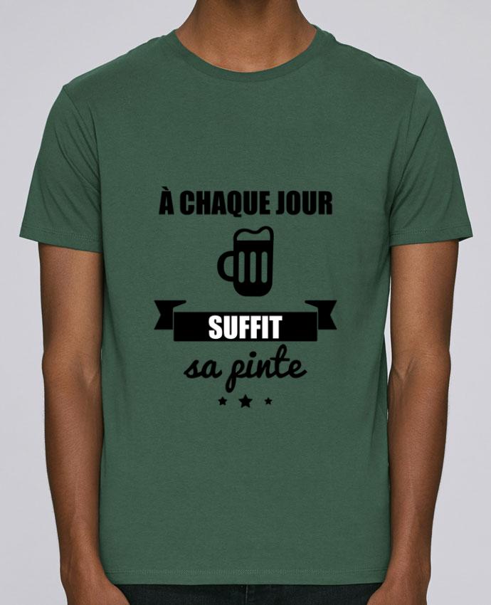 T-Shirt Col Rond Stanley Leads À chaque jour suffit sa pinte, bière, apéro, alcool par Benichan