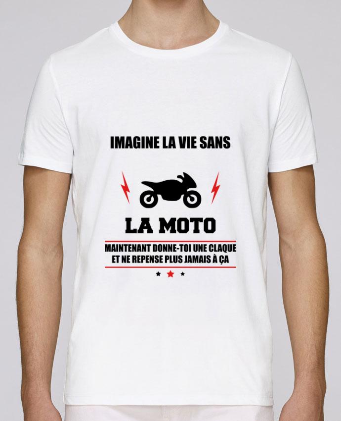 T-Shirt Col Rond Stanley Leads Imagine la vie sans la moto par Benichan