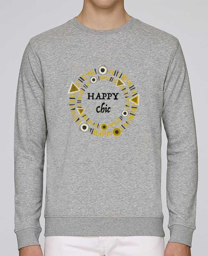 Sweat Col rond Unisex Stanley Stella Rise Happy Chic par LF Design
