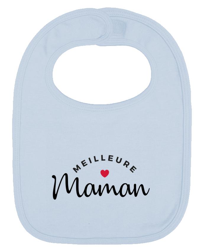 Bavoir Uni et Contrasté Meilleure Maman par Nana