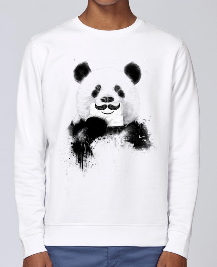 Sweat Col rond Unisex Stanley Stella Rise Funny Panda par Balàzs Solti