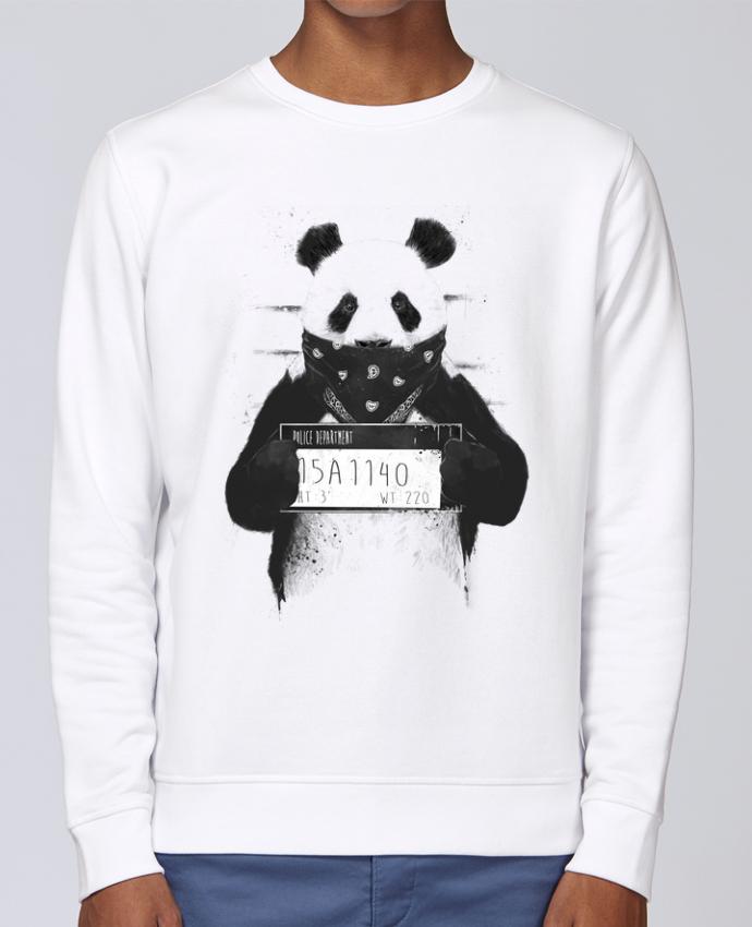Sweat Col rond Unisex Stanley Stella Rise Bad panda par Balàzs Solti