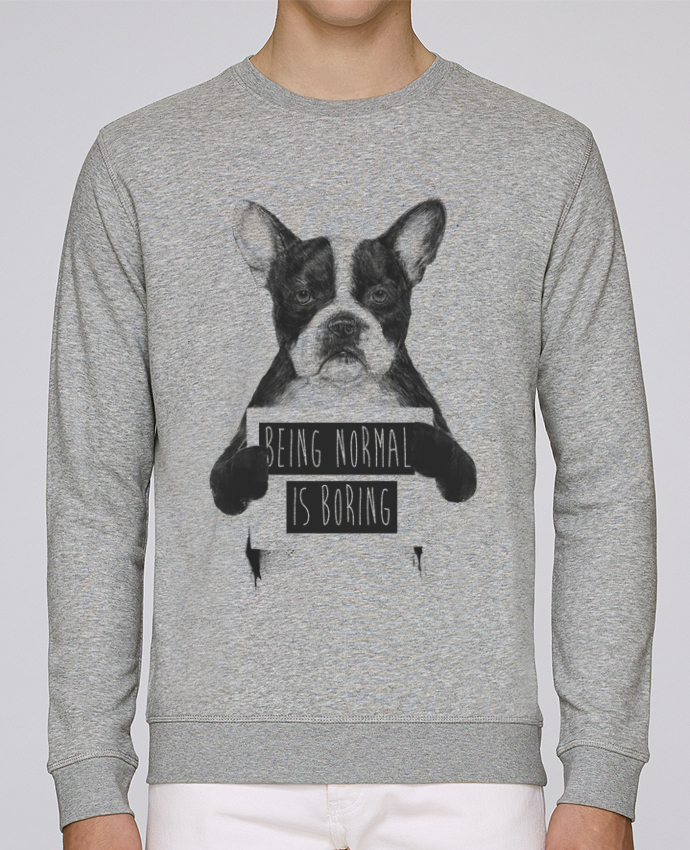 Sweat Col rond Unisex Stanley Stella Rise Being normal is boring par Balàzs Solti