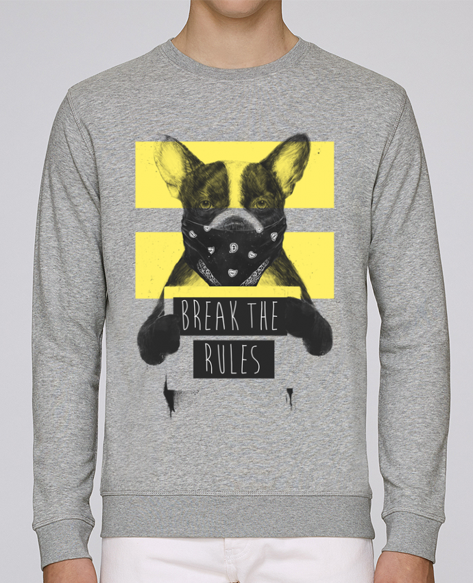 Sweat Col rond Unisex Stanley Stella Rise rebel_dog_yellow par Balàzs Solti