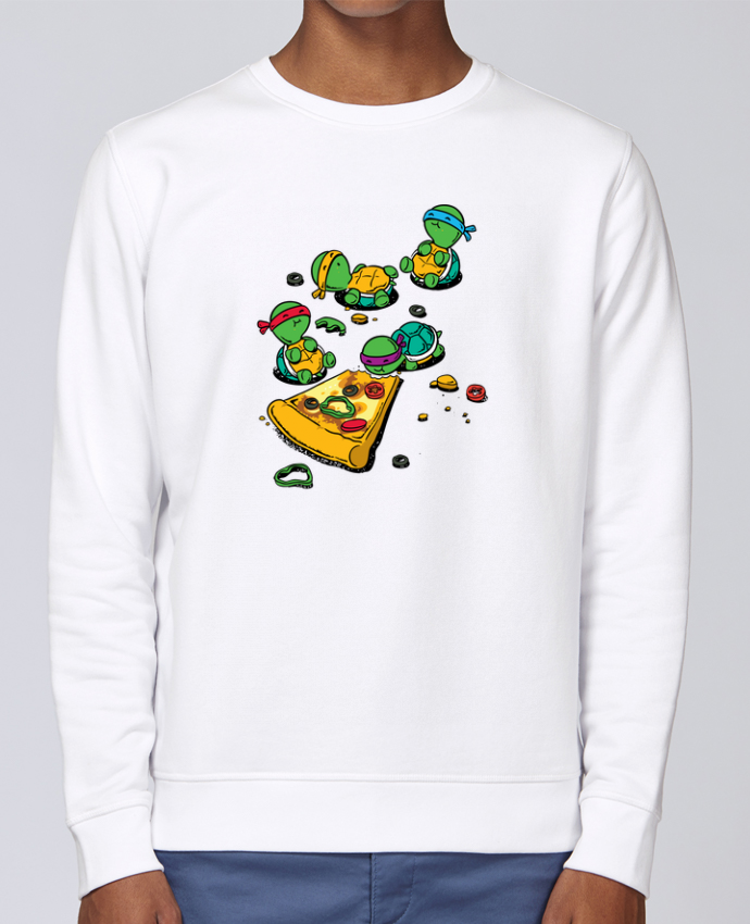 Sweat Col rond Unisex Stanley Stella Rise Pizza lover par flyingmouse365