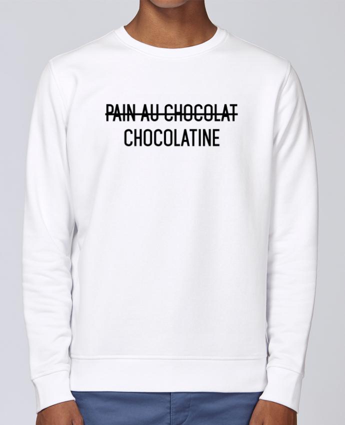 Sweat Col rond Unisex Stanley Stella Rise Chocolatine par tunetoo