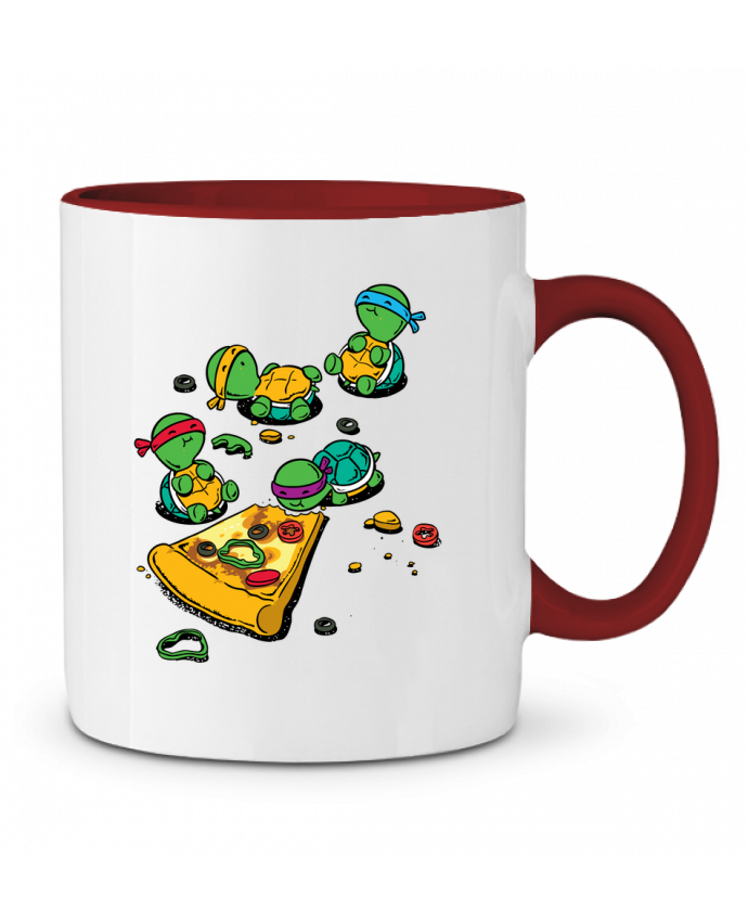 Mug en Céramique Bicolore Pizza lover flyingmouse365