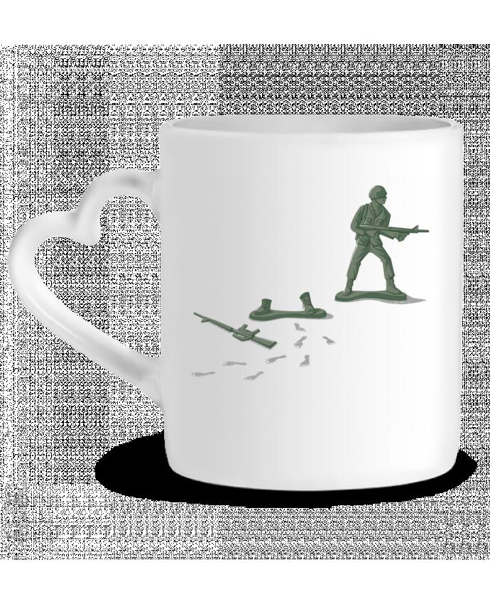 Mug Coeur Deserter par flyingmouse365
