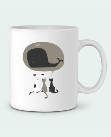 Mug en Céramique Dream Big par flyingmouse365