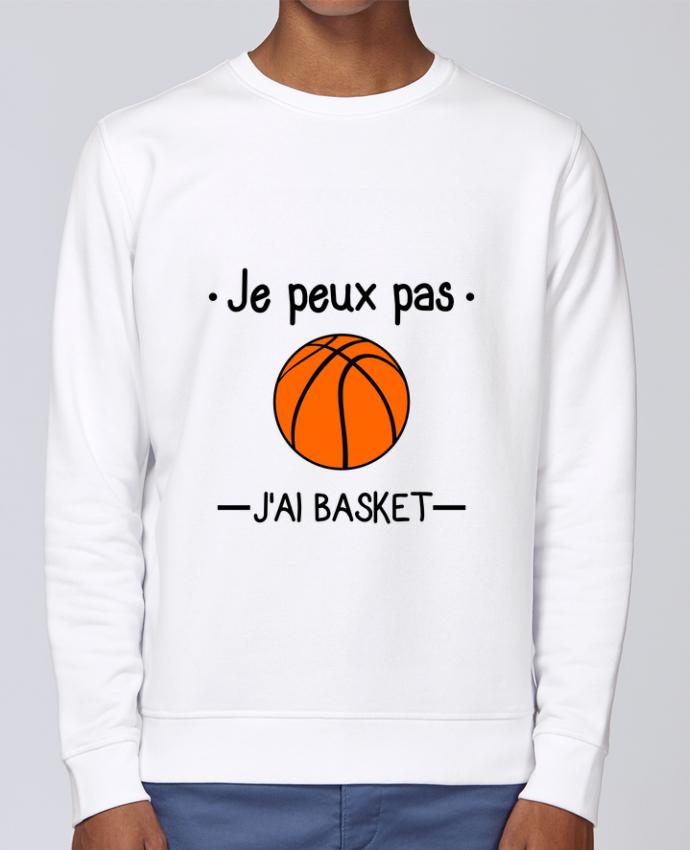 Sweat Col rond Unisex Stanley Stella Rise Je peux pas j'ai basket,basketball,basket-ball par Benichan