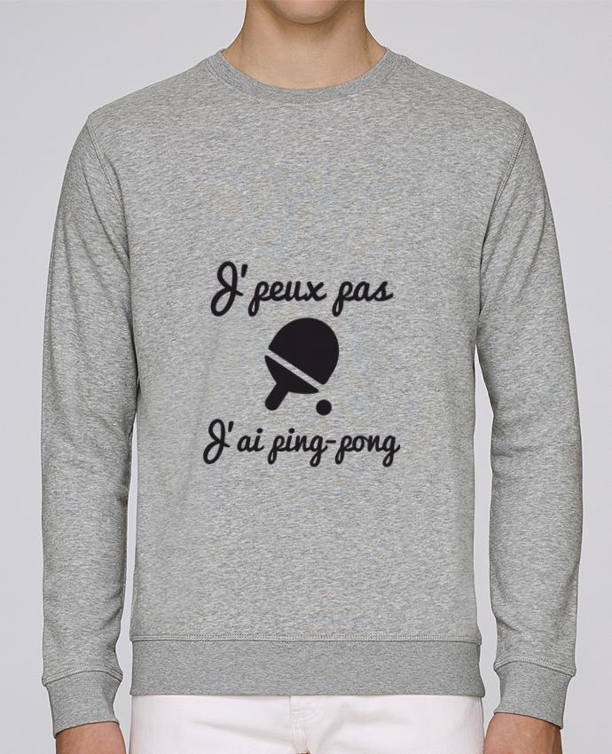 Sweat Col rond Unisex Stanley Stella Rise J'peux pas j'ai ping-pong,pongiste,je peux pas j'ai ping pong par Benichan