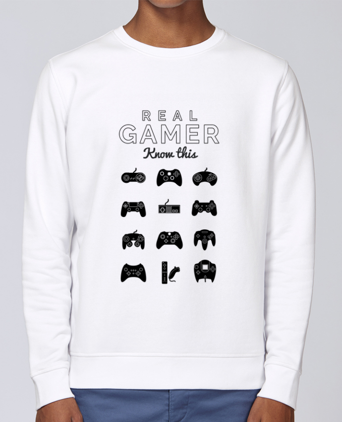 Sweat Col rond Unisex Stanley Stella Rise Real gamer jeux video par