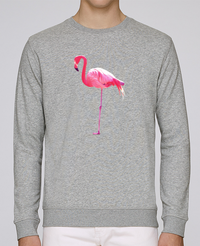 Sweat Col rond Unisex Stanley Stella Rise Flamant rose par justsayin
