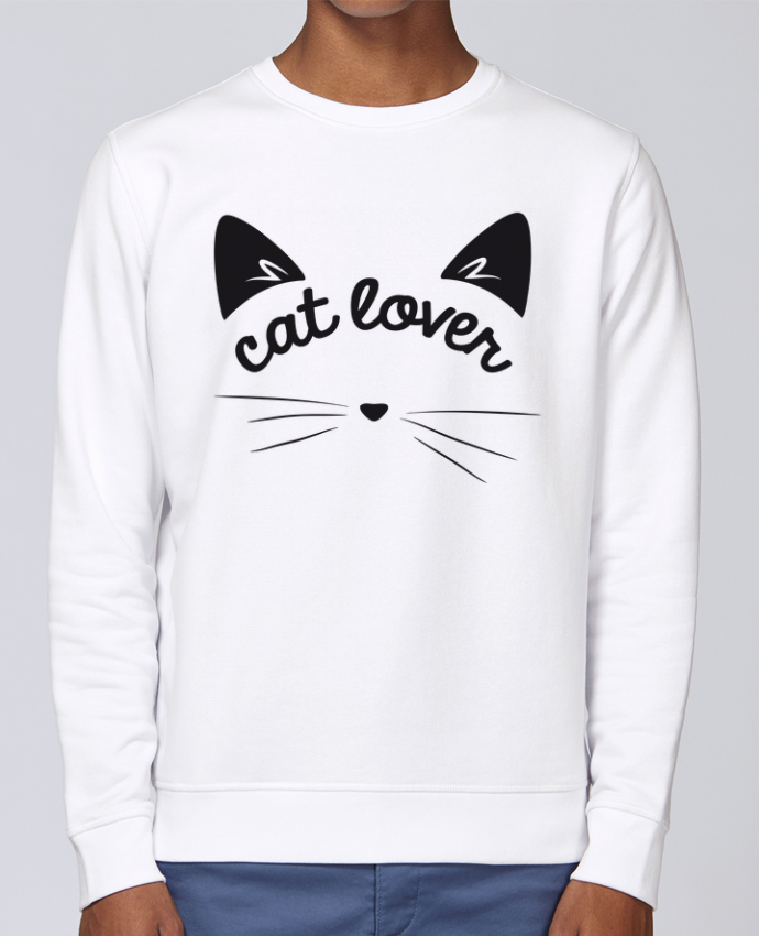 Sweat Col rond Unisex Stanley Stella Rise Cat lover par FRENCHUP-MAYO