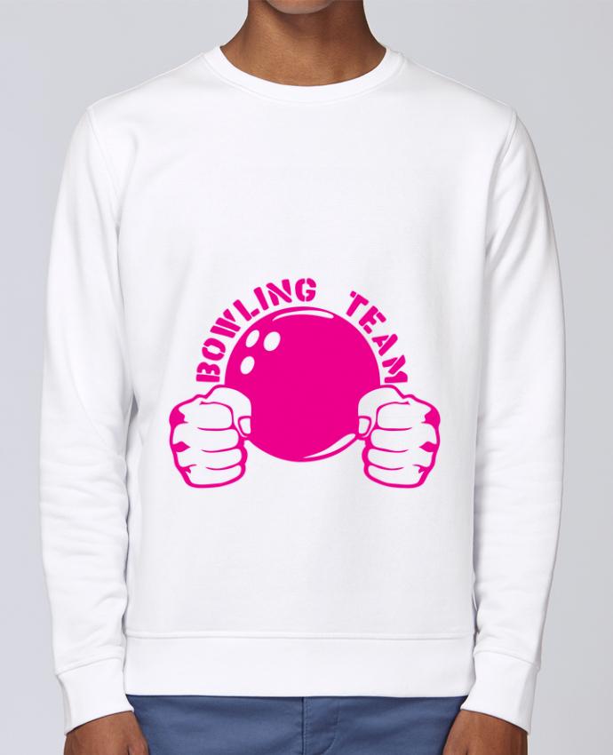 Sweat Col rond Unisex Stanley Stella Rise bowling team poing fermer logo club par Achille