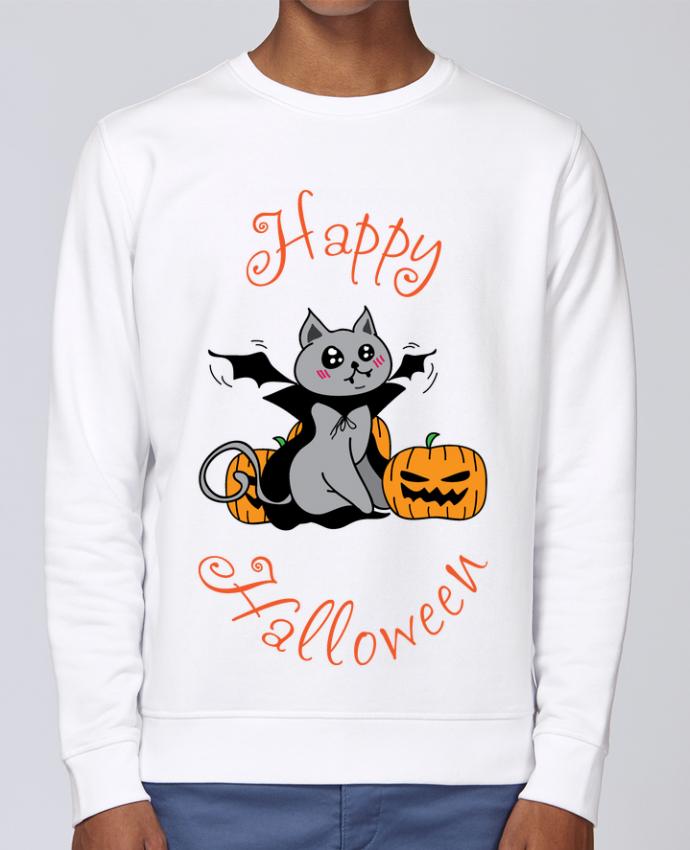 Sweat Col rond Unisex Stanley Stella Rise Cut Cat Halloween - Chat vampire par