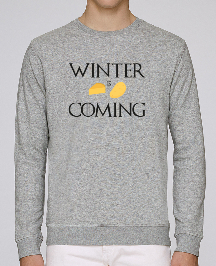 Sweat Col rond Unisex Stanley Stella Rise Winter is coming par Ruuud