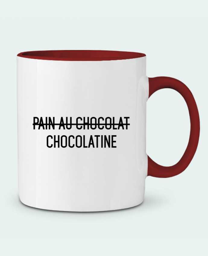 Mug en Céramique Bicolore Chocolatine tunetoo