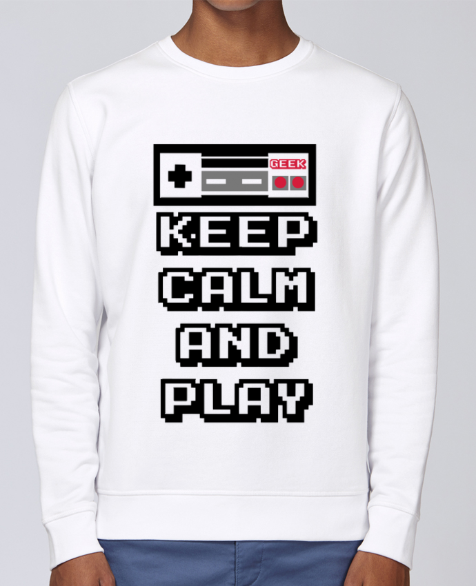 Sweat Col rond Unisex Stanley Stella Rise KEEP CALM AND PLAY par SG LXXXIII