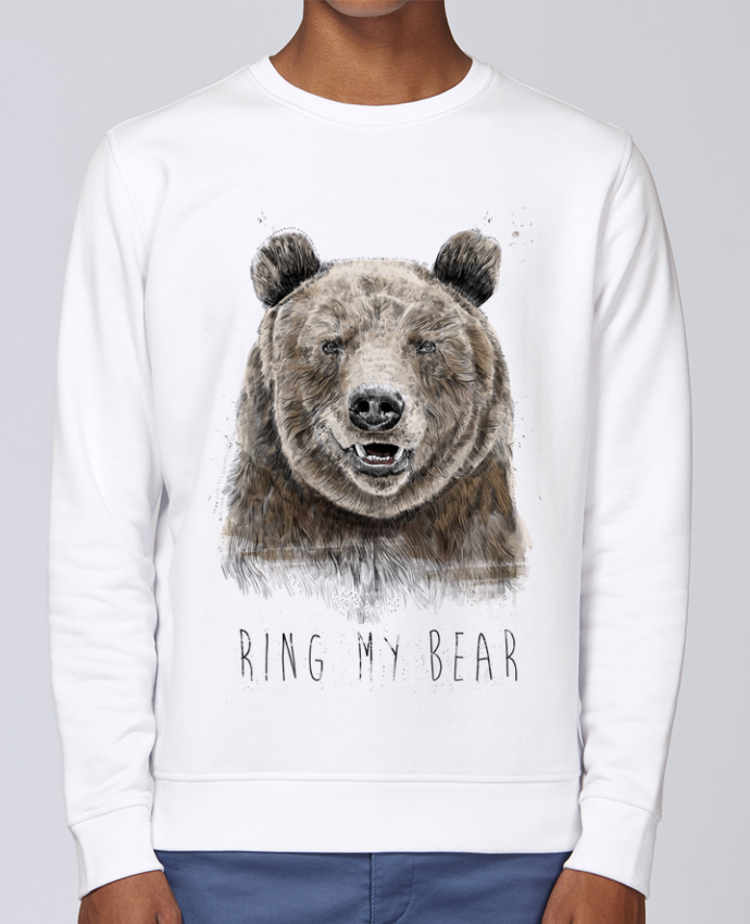 Sweat Col rond Unisex Stanley Stella Rise Ring my bear par Balàzs Solti