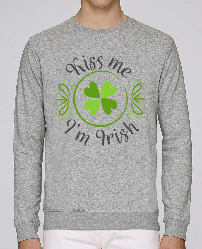 Sweat Col rond Homme Stanley Stella Rise Kiss me I'm Irish par tunetoo