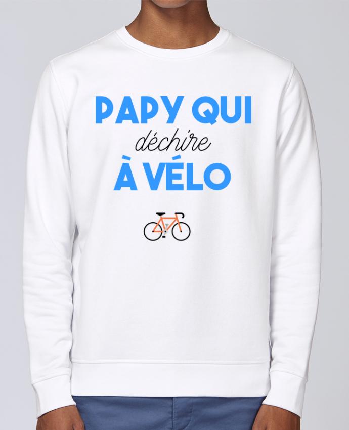 Sweat Col rond Unisex Stanley Stella Rise Papy qui déchire à Vélo par tunetoo