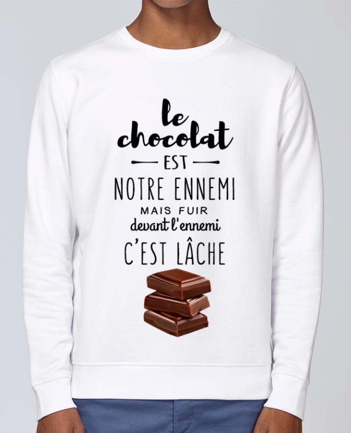 Sweat Col rond Unisex Stanley Stella Rise chocolat par DesignMe