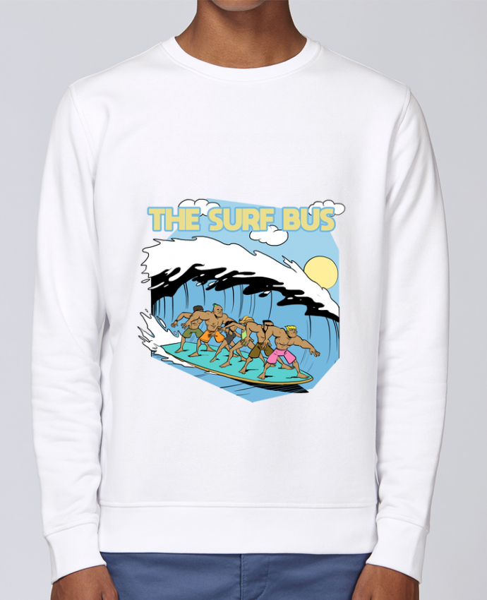 Sweat Col rond Unisex Stanley Stella Rise The Surf Bus par Tomi Ax - tomiax.fr