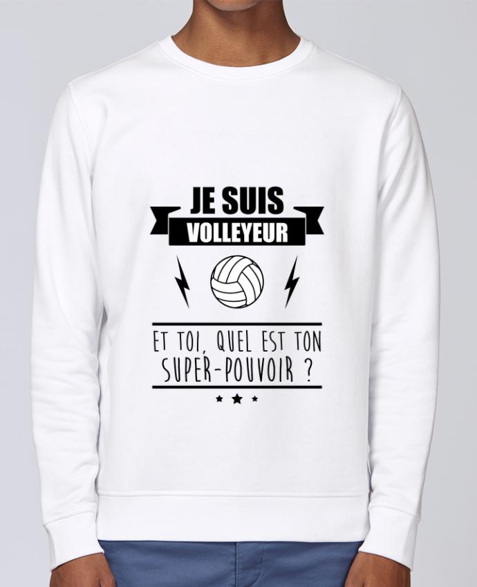 Sweat Col rond Unisex Stanley Stella Rise Je suis volleyeur et toi, quel est ton super-pouvoir ? par Benichan