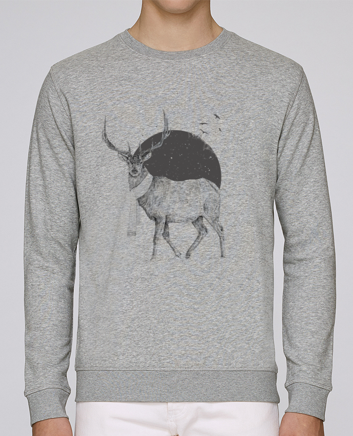 Sweat Col rond Unisex Stanley Stella Rise Winter is all around par Balàzs Solti
