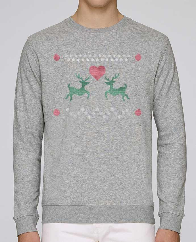 Sweat Col rond Homme Stanley Stella Rise Amour rennes de noël - Pull moche (ugly sweater) par tunetoo