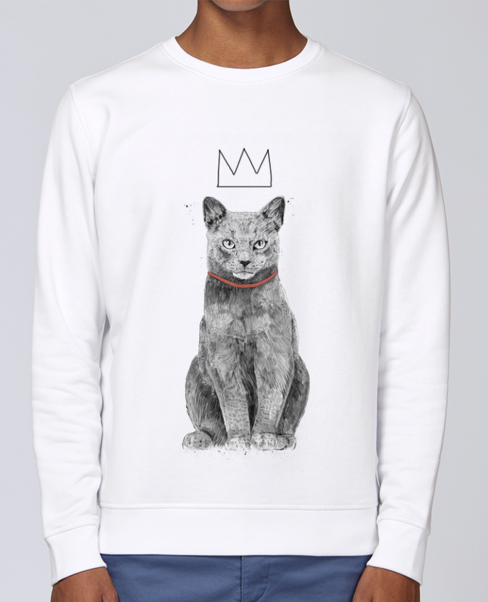 Sweat Col rond Unisex Stanley Stella Rise King Of Everything par Balàzs Solti