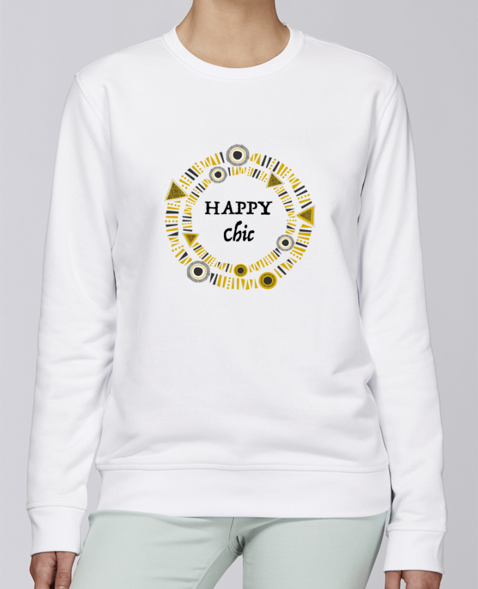 Sweat Col rond Unisexe Stanley Stella Rise Happy Chic par LF Design